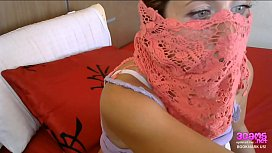 Super Horny Muslim Arab Woman Wearing Burqa Big Tits and Dildo Cumming on Live Webcam Show - www.3cams.net