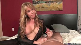 ovNau milf with big tits handjob