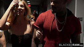 BLACKEDRAW European Model Fucks Two BBCs and Gets Dominated