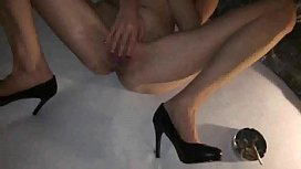 Boss found his drunk secretary masturbating and fucked her after corporative party filming their sex on his phone