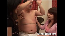 Some fat guy in ropes being t0rtured xxx pic