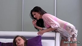 Sensual czech sweeties open up their asses with anal plug and huge vibros