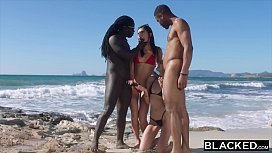 BLACKED She was alone on vacation until she found two BBCs