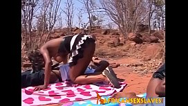 Amateur African Teen Couples Have Sex Outdoors