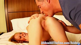 Petite Teen Alyssa Gets Ass Spread and Licked at AllAnal! xvideos preview