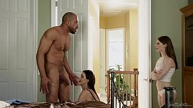 Teen share her foster Dad cock with her step mom India Summer Alice March