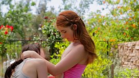 Ava Sparxxx and Veronika Outdoor Lesbian Fun