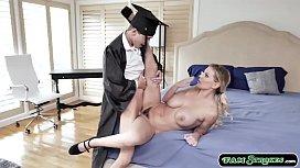 Sexy stepmom sucks and fucked by stepson