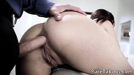 Teen anally slammed by horny stepdad