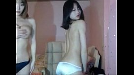 Extremely hot Korean girls playing on webcam - cam21.net