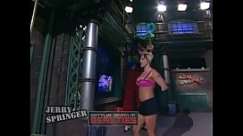 What is the name of the blonde? Jerry springer xxx video