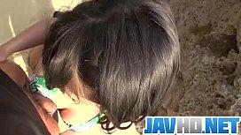 Megumi Haruka amazes in outdoor blowjob scene