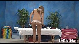 Lovely honey likes massage