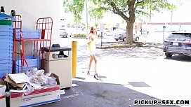 Petite Czech babe gets drilled outdoors
