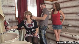 Girlfriends hot mom inlaw takes it from behind