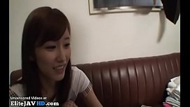 Japanese pretty teen in stockings fucks older man