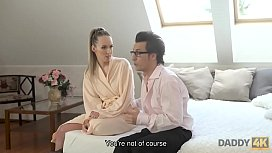 DADDY4K. Sex with s.'_s classy GF drives dirty f. to nice orgasm