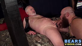 Hot and big daddies fucking in an evil dungeon with grandpa