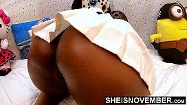 4k UHD Nipples Areolas Licking Big Natural Tits Sucking Young Ebony African American Girl And Up Skirt Big Ass And Pussy Panties Pulled Down Msnovember