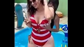 Anal sex to a curvy mom in swimsuit
