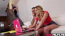 Aubrey Sinclairs moist young pussy eaten by milf Sarah Vandella!