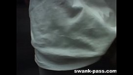 Swank-pass Monica Mattos sucks and fucks thick cock while being watched