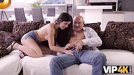 VIP4K. Muscled old gentleman Bruno sleeps with dazzling
