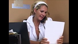 The young nurse omits no opportunity to fuck her patients