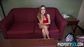 Prope ex Sleazy landlord collects rent by fucking hot tenant on camera