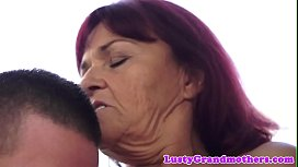 Redhead euro GILF doggystyled outdoors