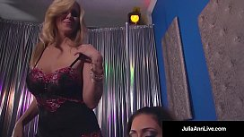 Double BJ &amp_ Cum with Hot Mommy Julia Ann &amp_ Jessica Jaymes!