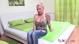 Shy blonde girl fuck a stranger for the first time heocon.com
