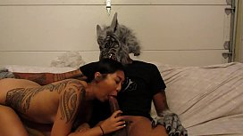 big black wolf fucks asian (halloween)