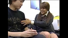 Japanese Depressed Brother Is Encouraged by Sister Handjob