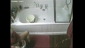 Now I know what my mom usually do on toilet. Hidden cam