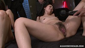 Squirting like crazy and she sucks some cocks