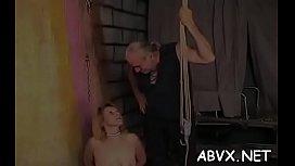 Undressed woman spanking video with extreme bondage