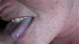 Cumming Into Granny's Mouth Closeup