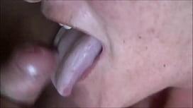Cumming Into Granny's Mouth Closeup