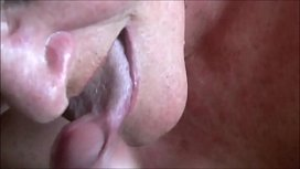 Cumming Into Granny'_s Mouth Closeup