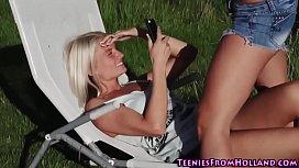Teen lesbian fingering