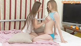 Two blonde highschool teen friends studying together