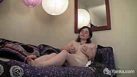 MILF Dawn Playing With Her Bushy Pussy