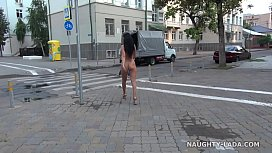 Completely nude in public. Nude on city streets