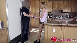Hollie Mack and Brother Sex at Kitchen - SisterCums.com