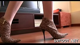 Angel gets her feet in face and then gives a steamy footjob