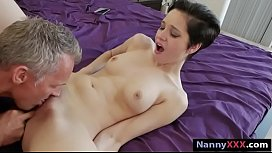 Babysitter Cadey Mercury pussy screwed