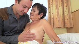 Granny fucked in her hairy cunt