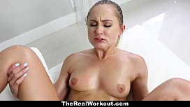 TheRealWorkout- Blonde biker Stretched and fucked