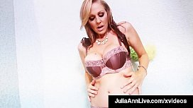 Drenched In H2O Julia Ann Finger Bangs In Hot Wet Underwear!